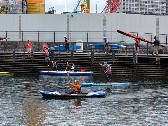 第35回横浜縦断カヌーフェスティバルの出艇