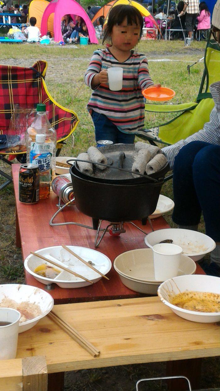 BBQにてBULIN(歩林) BL100-B3を使ってダッジオーブンを使う
