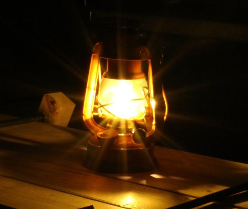 ランタン撮影の光条の練習!