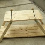 キャンプ用♬ アイアンウッドテーブルの進捗状況