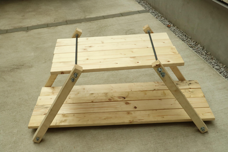 アイアンウッドテーブル用の試作用を組み立ててみる