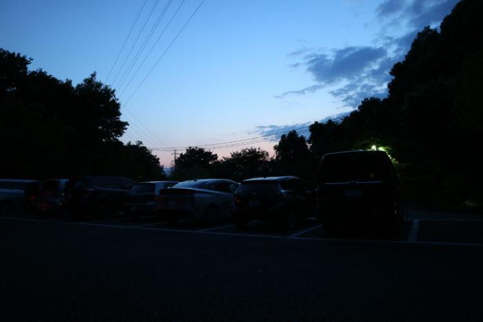谷戸山公園に蛍鑑賞に来ました。谷戸山公園の北駐車場