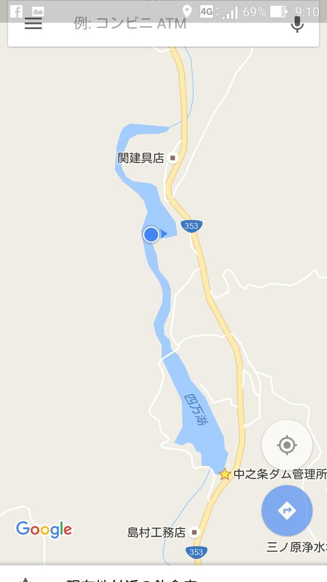四万湖の地図