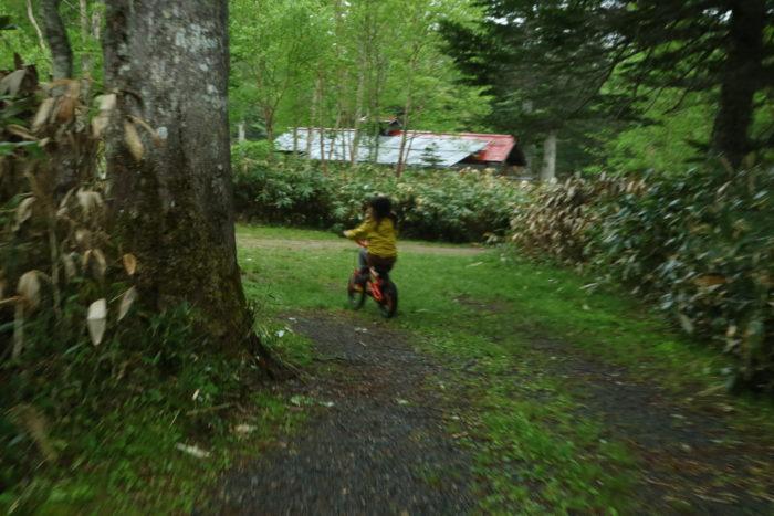 菅沼キャンプ村を自転車で散策
