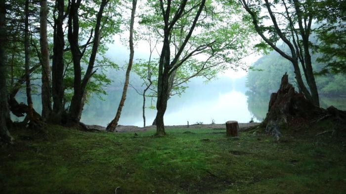 菅沼キャンプ村の夕方