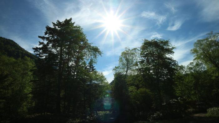 菅沼キャンプ村の太陽