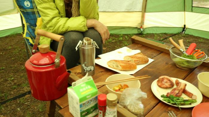 菅沼キャンプ村でキャンプした時の朝食