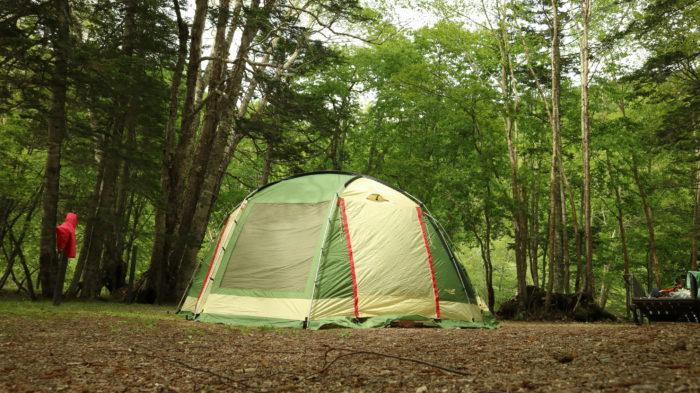 菅沼キャンプ村でのキャンプの撤収