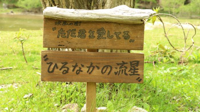 菅沼キャンプ村の映画ロケ場所、ただ君を愛してるとひるなかの流星