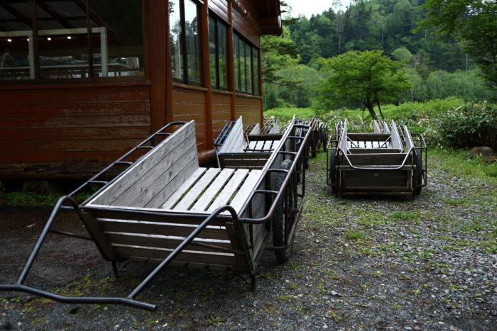 菅沼キャンプ村のリヤカー
