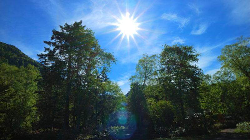 菅沼キャンプ村の朝日