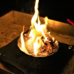 キャンプの焚き火用シートにカーボンフェルト!