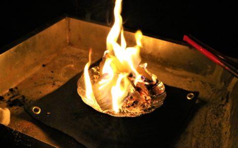 IKEAの蒸し器流用の焚き火台