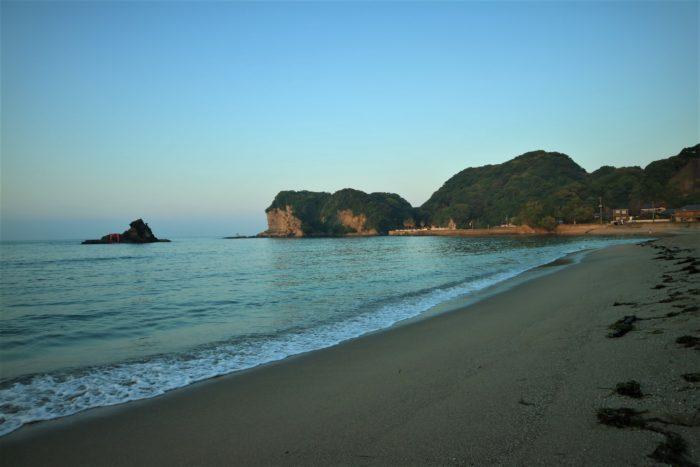 海開き前の守谷海水浴場の朝