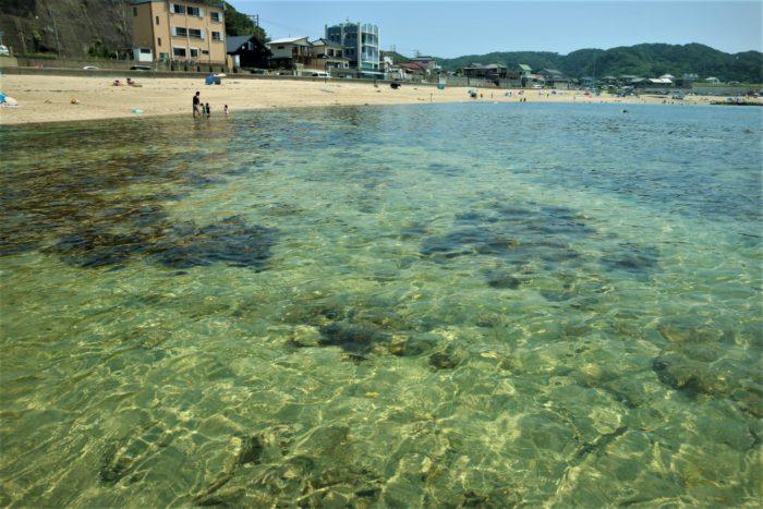 海開き前の守谷海水浴場の海