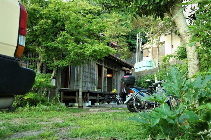 守谷海水浴場のお茶の間ゲストハウスの外観