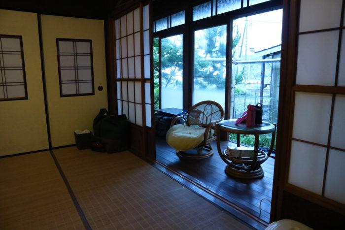守谷海水浴場のお茶の間ゲストハウスの部屋