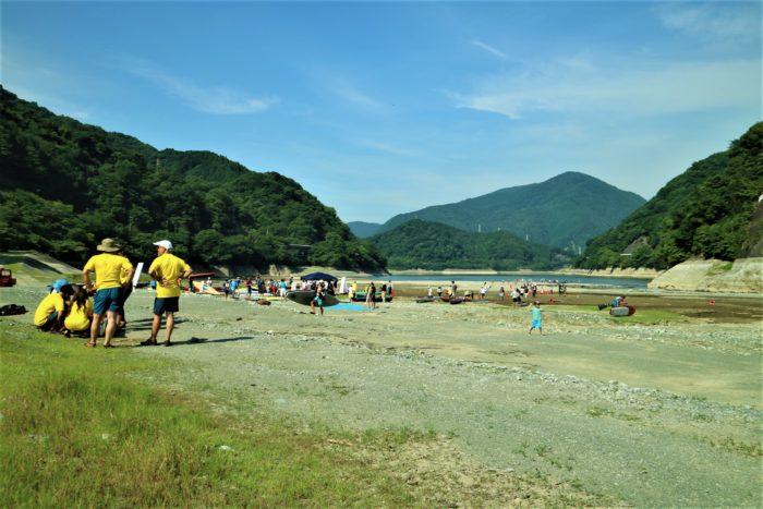 第17回カヌーマラソンIN丹沢湖の検艇
