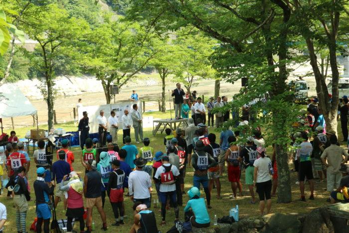 第17回カヌーマラソンIN丹沢湖の開会式