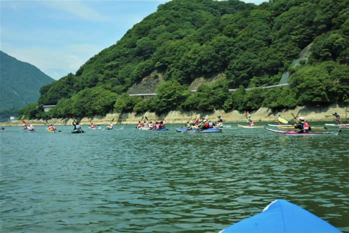 第17回カヌーマラソンIN丹沢湖のスタート!