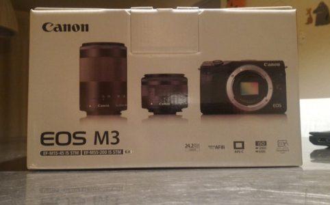 初めての一眼カメラ、ミラーレス一眼 CANON EOS M3 ダブルズームキット