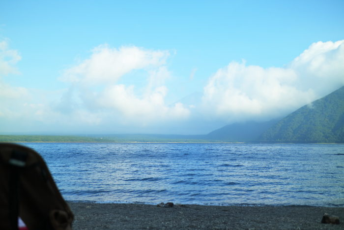 浩庵キャンプ場からの富士山の眺め
