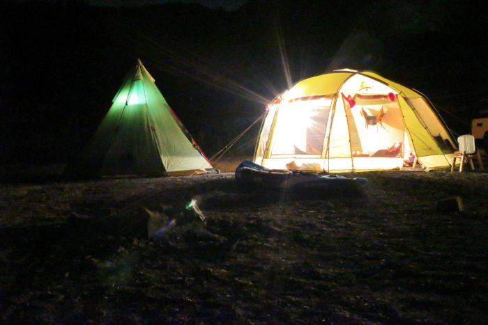 浩庵キャンプ場でのテント写真