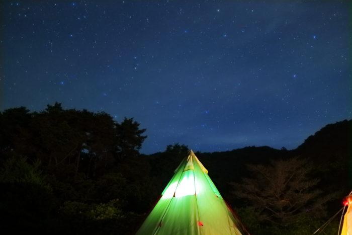浩庵キャンプ場での星空写真