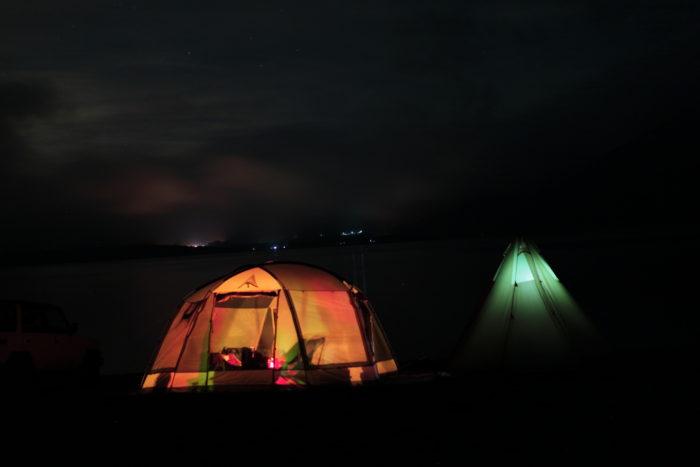 浩庵キャンプ場の夜