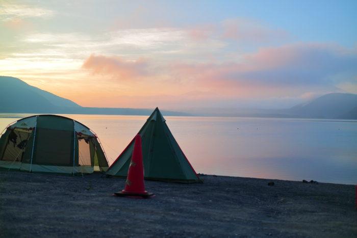 浩庵キャンプ場の朝日