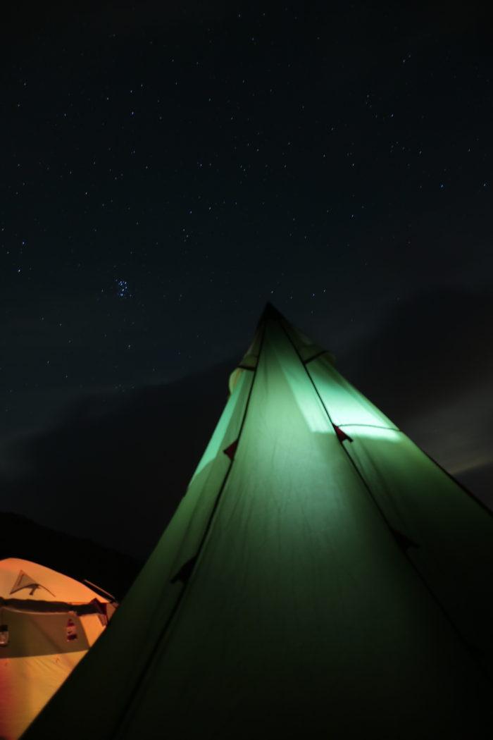 浩庵キャンプ場の星空