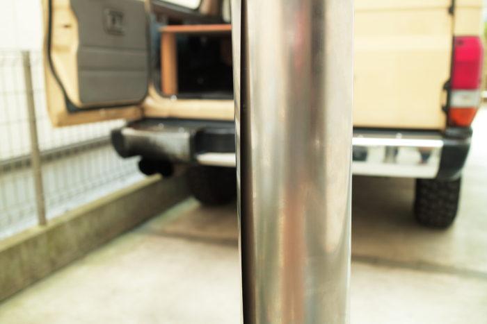 薪ストーブのチョッパープロト用の巻き巻き煙突を組み立てる