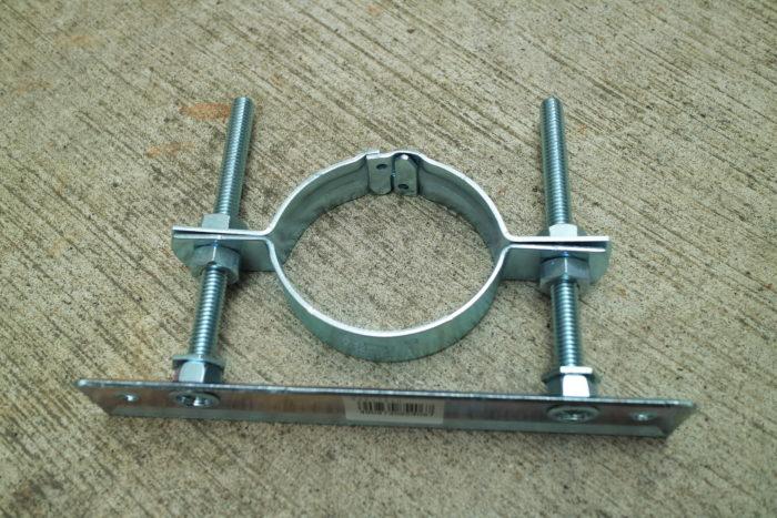 薪ストーブ、チョッパープロトタイプの煙突支えに使う配管用支え