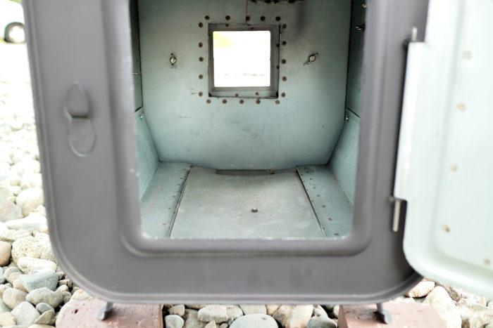 新保製作所の薪ストーブのチョッパープロトタイプの燃焼室