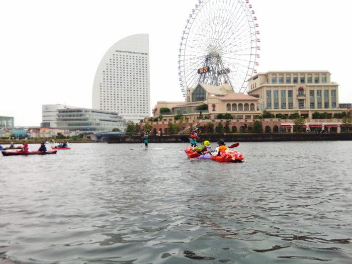 2017第36回横浜縦断カヌーフェスティバルのスタート待ち