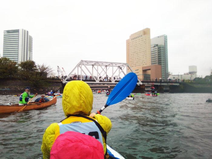 2017第36回横浜縦断カヌーフェスティバルのスタート直後