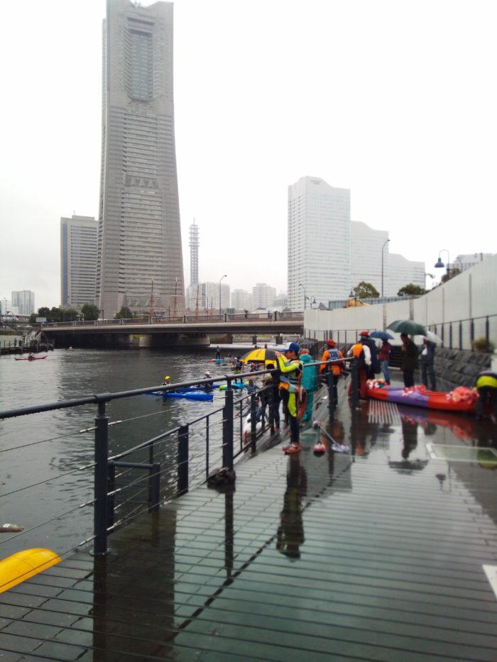 2017第36回横浜縦断カヌーフェスティバルのゴール後