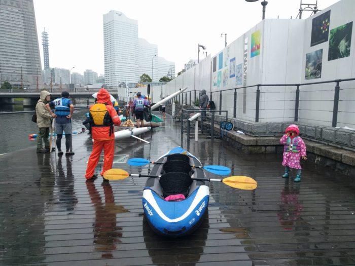 2017第36回横浜縦断カヌーフェスティバルの出艇待ち