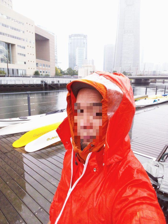 2017第36回横浜縦断カヌーフェスティバルの当日は雨…