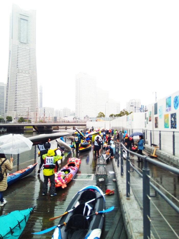 2017第36回横浜縦断カヌーフェスティバルの出艇前