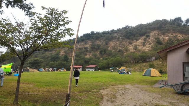 群馬県榛東村の創造の森キャンプ場です。