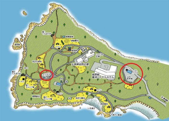 大房岬自然公園地図