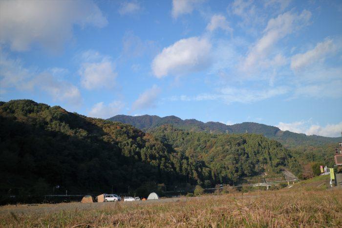 田代運動でソロキャンプの朝、天気が良い