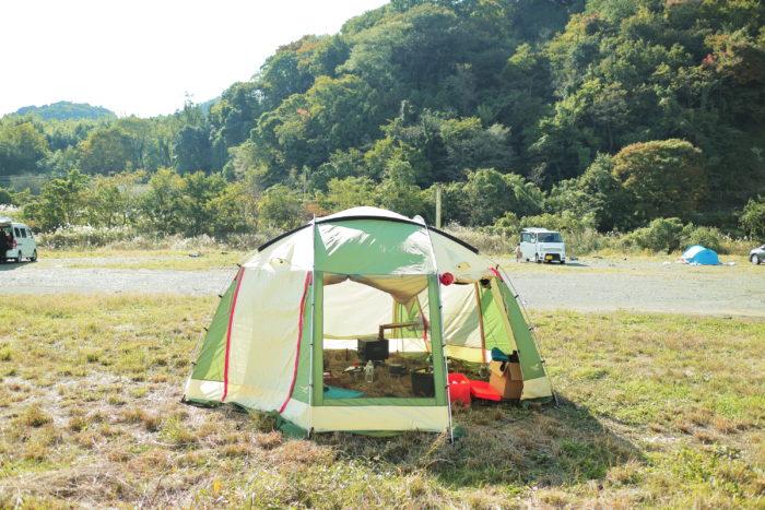 田代運動でソロキャンプ