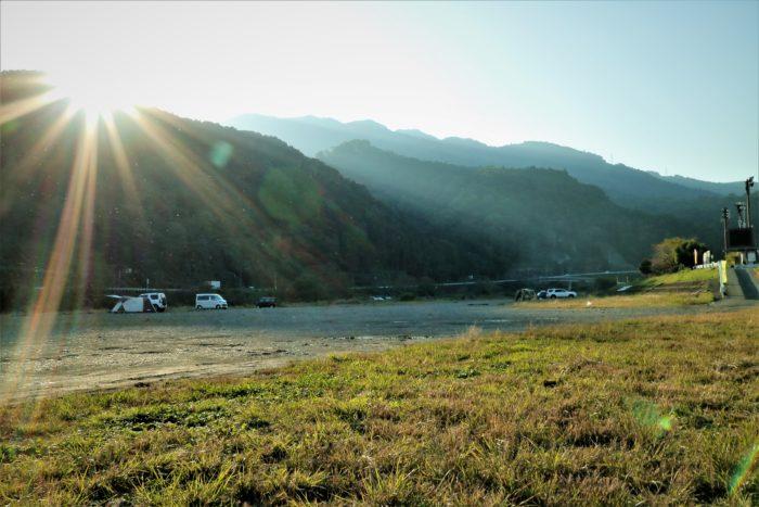 田代運動でソロキャンプの夕方