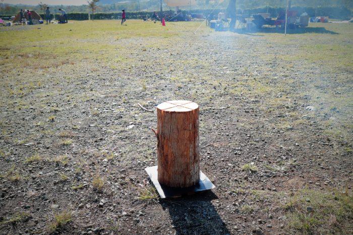上大島キャンプ場でデイキャンプするのにスエディッシュトーチを持ってきた
