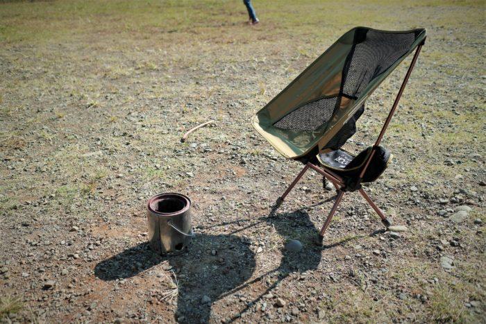 上大島キャンプ場でウッドガスストーブを使う