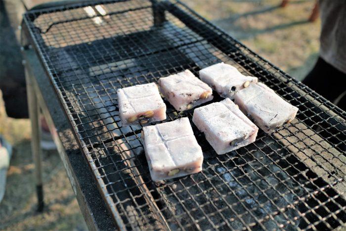 BBQの締めは豆餅
