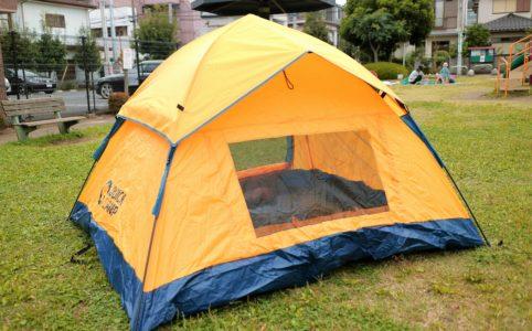 QUICK CAMPのONE TOUCH TENTの品番QC-OT210 ワンタッチテントの3人用の外観