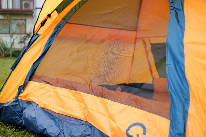 QUICK CAMPのONE TOUCH TENTの品番QC-OT210 ワンタッチテントの3人用のフロントメッシュ